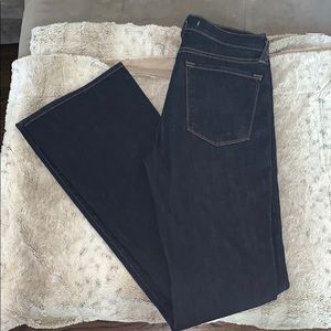 Jbrand dark wash boot cut jeans.